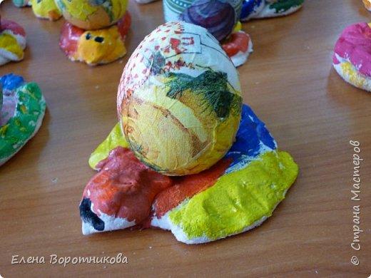 На Пасху мы решили сделать курочку и яйцо. фото 4