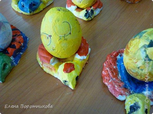 На Пасху мы решили сделать курочку и яйцо. фото 3