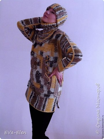 Пуловер из турецкого акрила с шерстью секционно короткой окраски. Пряжа объемная, CRAZY COLOR YARNART: 35% шерсть, 65% акрил. В комплекте с шапочкой, вязаной крючком, и манишкой, вязаной спицами, получается отличный теплый комплект. Весенним прохладным днем меховая жилетка сверху составит отличный ансамбль, позволит вам не одевать куртку и выглядеть нарядно и ярко. Рекомендации по уходу: Стирка при 40 градусах в нормальном режиме. Не гладить! Химчистка кроме трихлорэтилена. Отжим в машине разрешен. не отбеливать! сушка в растянутом виде. Связан на основе  пледа в 10 петель. фото 1