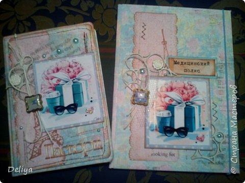 """Моя новинка """"Комплект"""" (обложка на паспорт и полис в едином стиле) фото 2"""