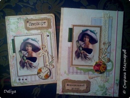"""Моя новинка """"Комплект"""" (обложка на паспорт и полис в едином стиле) фото 3"""