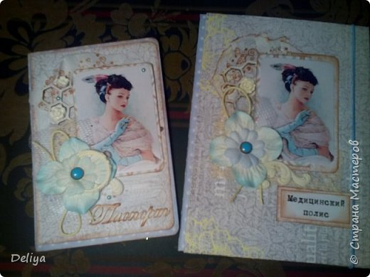"""Моя новинка """"Комплект"""" (обложка на паспорт и полис в едином стиле) фото 1"""