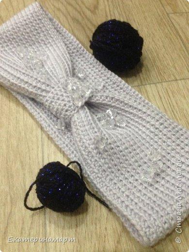Связалась повязочка на выходных =) очень удобная вещь в гардеробе... ее можно носить и наизнанку, нигде нет швов =) очень интересно  фото 1