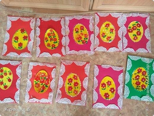 Делали с дошколятами открытки к вербному воскресению.  фото 5