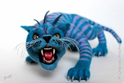 Фэнтази кот из шерсти фото 1