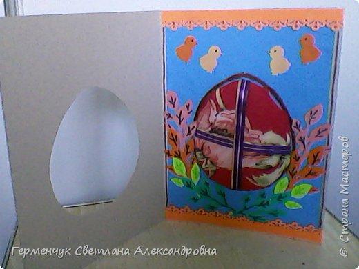 """Вот такие  открытки  ребята 4 """"В"""" класса  смастерили на уроке трудового обучения к Светлому празднику Пасхе!  фото 51"""