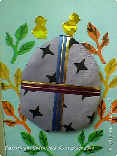 """Вот такие  открытки  ребята 4 """"В"""" класса  смастерили на уроке трудового обучения к Светлому празднику Пасхе!  фото 20"""