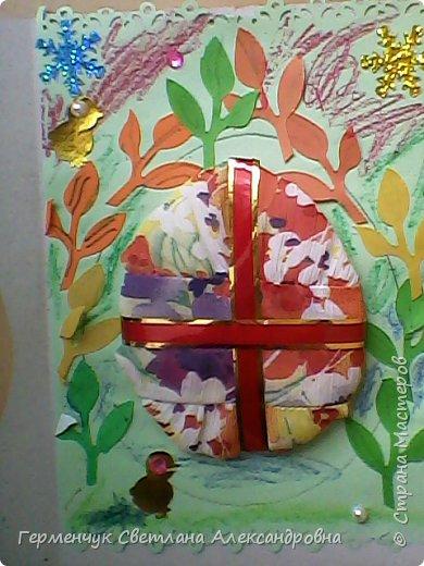 """Вот такие  открытки  ребята 4 """"В"""" класса  смастерили на уроке трудового обучения к Светлому празднику Пасхе!  фото 42"""
