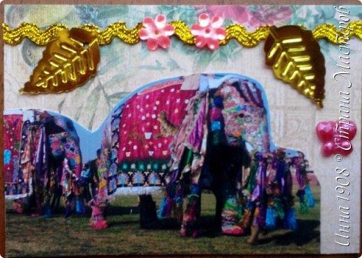 """Доброго времени суток, уважаемые мастерицы! Предлагаю вниманию участников Совместника-3 """"Вкусная география"""" http://stranamasterov.ru/node/1087039?c=favorite серию АТС «Слоны». В Индии слон считается священным животным, олицетворяя мудрость, благоразумие и силу. Именно поэтому слон – символ Индии. Слоны участвуют в свадебных церемониях и других торжествах. фото 3"""