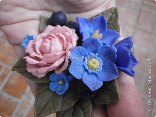 Бутоньерка № 2 с розой фото 2