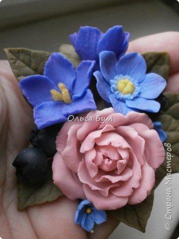 Бутоньерка № 2 с розой фото 4