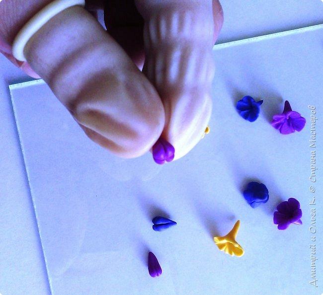 Простой МК сережек из полимерной глины.Немножко весны для настроения)))  фото 15