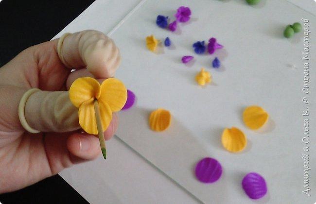 Простой МК сережек из полимерной глины.Немножко весны для настроения)))  фото 19