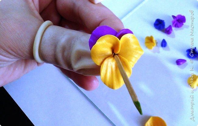 Простой МК сережек из полимерной глины.Немножко весны для настроения)))  фото 20