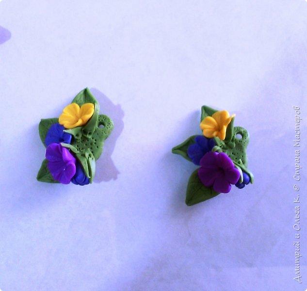 Простой МК сережек из полимерной глины.Немножко весны для настроения)))  фото 22