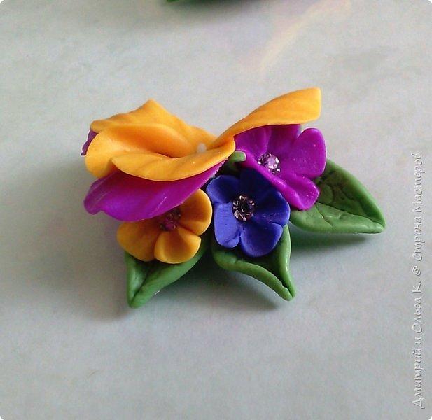 Простой МК сережек из полимерной глины.Немножко весны для настроения)))  фото 24