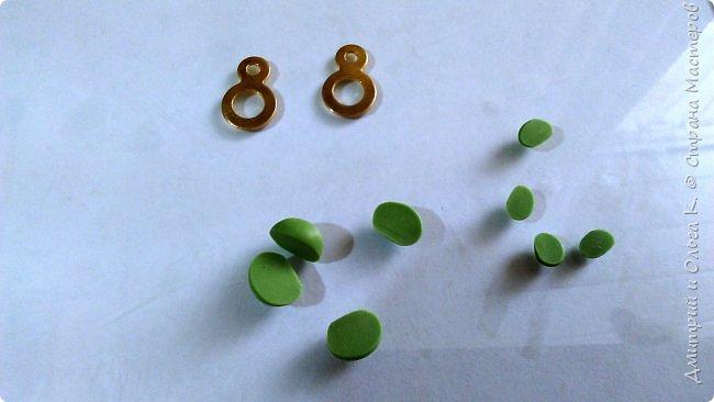 Простой МК сережек из полимерной глины.Немножко весны для настроения)))  фото 7