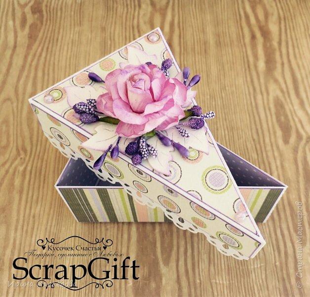"""""""Кусочек торта"""", коробочка для денежного подарка, размер 6*12 см. фото 3"""