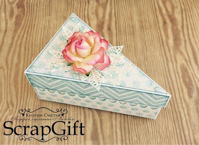 """""""Кусочек торта"""", коробочка для денежного подарка, размер 6*12 см. фото 4"""