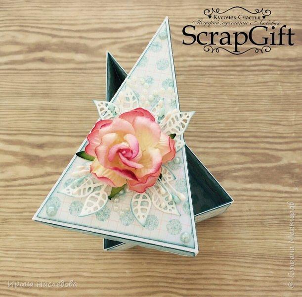 """""""Кусочек торта"""", коробочка для денежного подарка, размер 6*12 см. фото 5"""