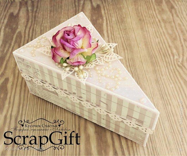"""""""Кусочек торта"""", коробочка для денежного подарка, размер 6*12 см. фото 6"""