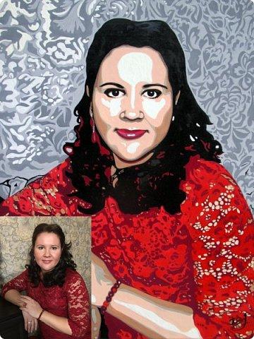 АРТ-портрет для замечательной девушки Александры. Масло. Холст на подрамнике. Формат 40х50. фото 5