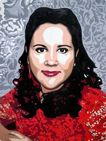 АРТ-портрет для замечательной девушки Александры. Масло. Холст на подрамнике. Формат 40х50. фото 2