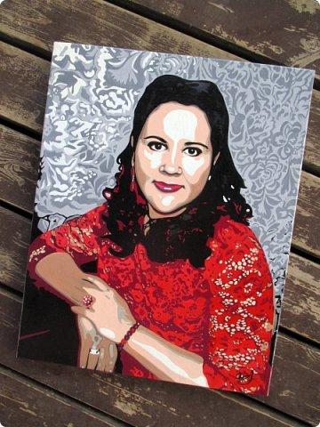 АРТ-портрет для замечательной девушки Александры. Масло. Холст на подрамнике. Формат 40х50. фото 3