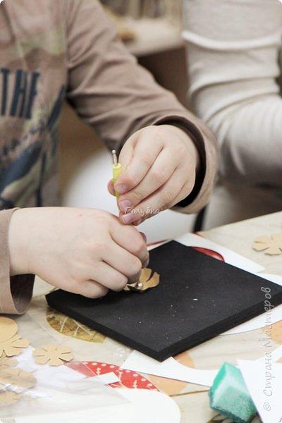 """Со 2 апреля у меня началась подготовка к Пасхе. Я провела 2 мастер-класса. Один для деток от 6, второй от 12 лет. Образец открытки карточки """"Пасхальное яйцо"""" А-ля ЭКО стиль. фото 7"""