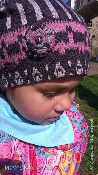 Привет всем гостям моей странички!!! Срочно мне понадобилась новая шапочка для доченьки, а тут Мариночка Маюття показала как сшить модную нынче шапочку бини  http://stranamasterov.ru/node/1090328  За что ей огромное спасибо!!!  фото 3