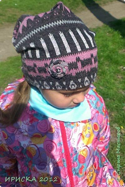 Привет всем гостям моей странички!!! Срочно мне понадобилась новая шапочка для доченьки, а тут Мариночка Маюття показала как сшить модную нынче шапочку бини  http://stranamasterov.ru/node/1090328  За что ей огромное спасибо!!!  фото 1