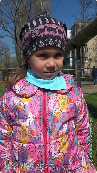 Привет всем гостям моей странички!!! Срочно мне понадобилась новая шапочка для доченьки, а тут Мариночка Маюття показала как сшить модную нынче шапочку бини  http://stranamasterov.ru/node/1090328  За что ей огромное спасибо!!!  фото 2