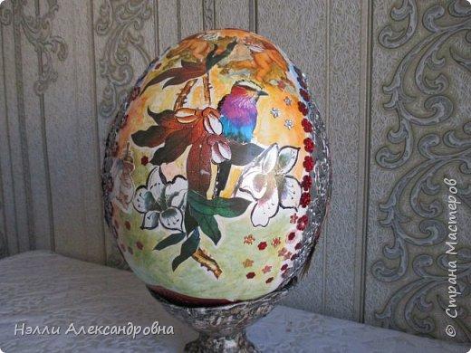 """Пасхальное яйцо . Размер 38 см вместе м подставкой. Подставка ввиде """" каменной вазы"""" фото 8"""