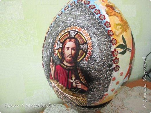 """Пасхальное яйцо . Размер 38 см вместе м подставкой. Подставка ввиде """" каменной вазы"""" фото 1"""