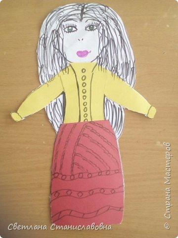Для арт-проекта мы с учениками 1 класса выполнили фигурки детей. фото 22