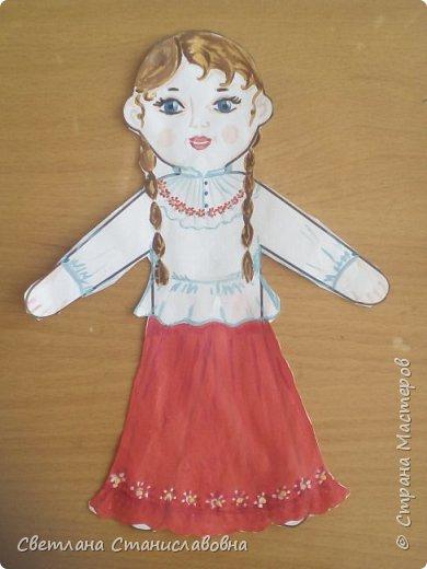 Для арт-проекта мы с учениками 1 класса выполнили фигурки детей. фото 3