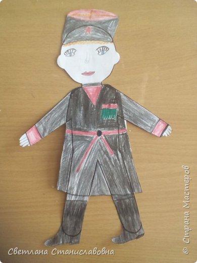 Для арт-проекта мы с учениками 1 класса выполнили фигурки детей. фото 19