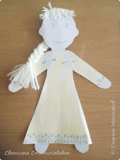 Для арт-проекта мы с учениками 1 класса выполнили фигурки детей. фото 18
