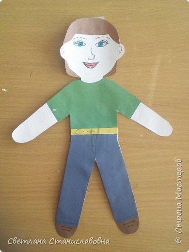 Для арт-проекта мы с учениками 1 класса выполнили фигурки детей. фото 15