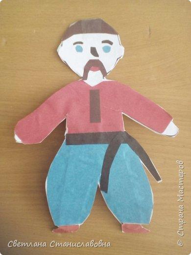 Для арт-проекта мы с учениками 1 класса выполнили фигурки детей. фото 7