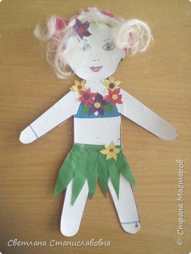 Для арт-проекта мы с учениками 1 класса выполнили фигурки детей. фото 11