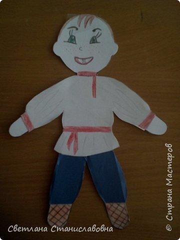 Для арт-проекта мы с учениками 1 класса выполнили фигурки детей. фото 10