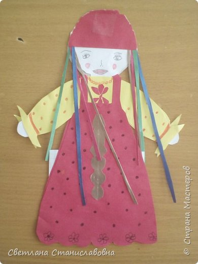 Для арт-проекта мы с учениками 1 класса выполнили фигурки детей. фото 13