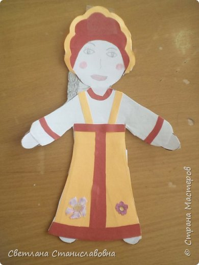 Для арт-проекта мы с учениками 1 класса выполнили фигурки детей. фото 12