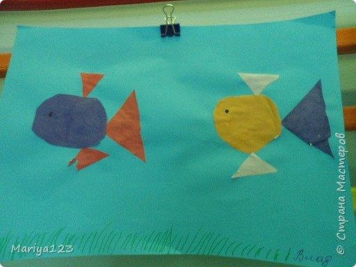 Добрый вечер всем-всем! На занятии по аппликации учились с ребятами вырезать из квадрата круг, из прямоугольника овал, умения свои закрепили в аппликации рыбки. фото 7