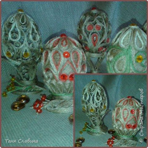 Привет всем! В канун великого праздника Пасхи, когда народ, объединяясь в едином порыве к добру и благоденствию, печёт куличи и красит яйца, я к вам, собственно, с ними - с ЯЙЦАМИ! Вдохновлённая произведениями рук мастеров Нижегородской области - основоположников удивительно красивого вида декоративно-прикладного творчества - казаковской скани (вид ювелирной техники, когда на металлический фон напаивается узор из золотой или серебряной проволоки), и ижевской мастерицы Веры Пушиной, окунулась в необъятный омут филигранного мастерства.  Не было целью повторить. Хотелось насладиться процессом, создать нечто своё в полёте фантазии вдохновенной натуры. Удовольствие от работы получила неописуемое! Это не просто отдых! Не просто релакс и успокоение!  Эта работа способна отвлечь от суеты непробудней, подарить надежду и желание твоить снова и снова. фото 10