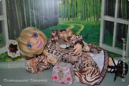 Текстильная куколка, одежда снимается, кроме нижнего белья. Полностью подвижна фото 1
