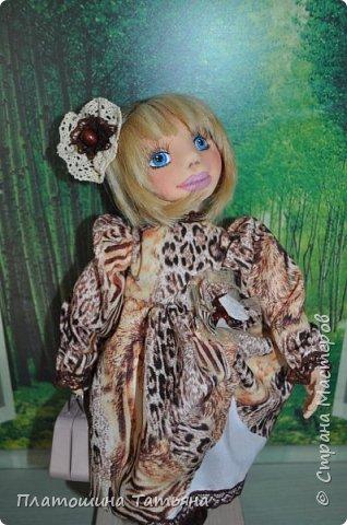 Текстильная куколка, одежда снимается, кроме нижнего белья. Полностью подвижна фото 2