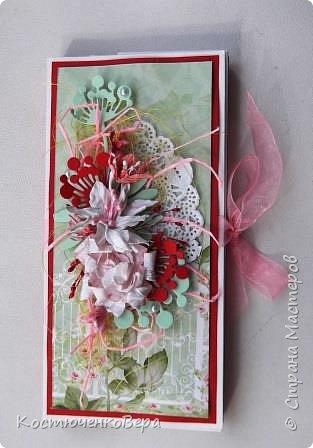 Сделала две весенние шоколадницы. Использовала вязанный цветок, очень хотелось именно с ним сделать композицию. фото 5