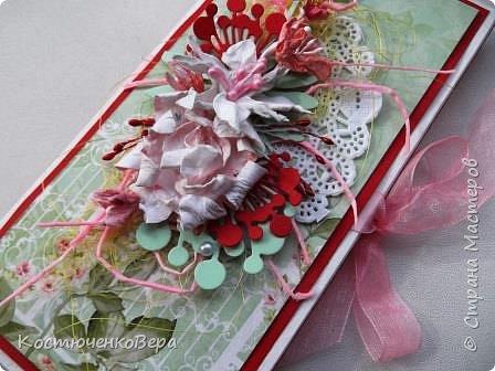Сделала две весенние шоколадницы. Использовала вязанный цветок, очень хотелось именно с ним сделать композицию. фото 8